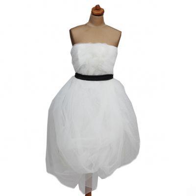 suknia ślubna Femini z pasem bombka