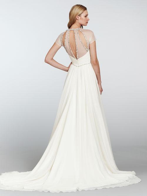Suknia ślubna Hayley Paige Z Krótkam Rękawem Tył Suknie ślubne