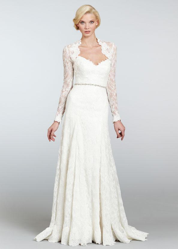 Suknia ślubna Hayley Paige Koronkowa Przód Suknie ślubne Hayley
