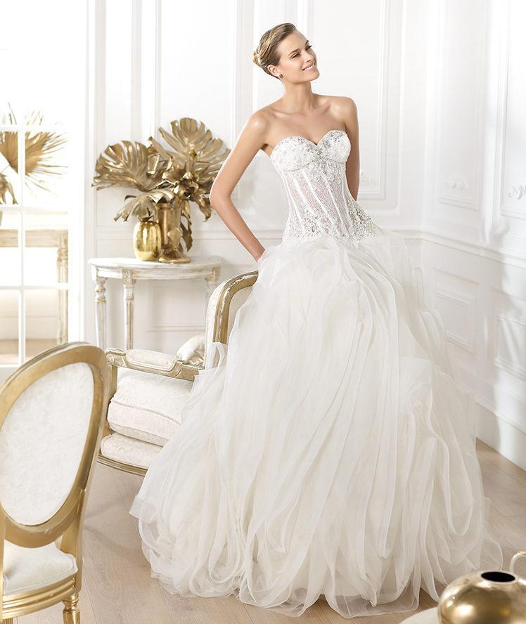 suknia ślubna Pronovias tiulowa