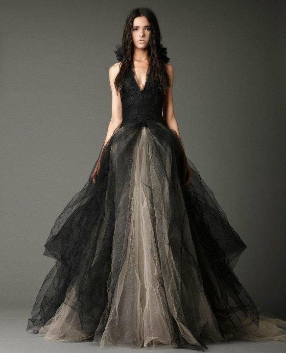 4308a66994 Suknie ślubne Vera Wang - jesień zima 2012 2013. oryginalna czarna suknia  ślubna ...