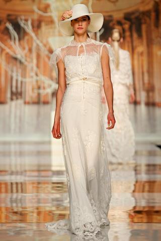suknia ślubna Yolan Cris z koronką