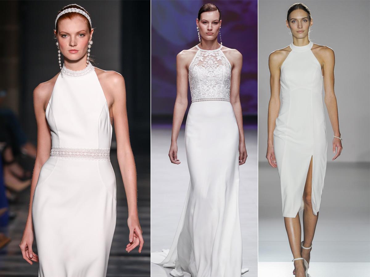 Suknie ślubne z dekoltem halter