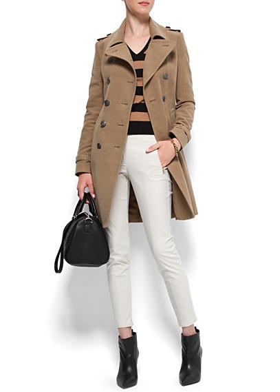 Beżowy płaszcz, Mango, 399 zł