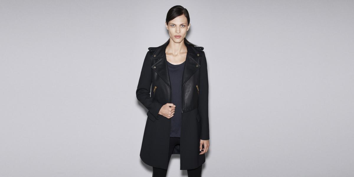 Płaszcz połączony z ramoneską, Zara 599 zł