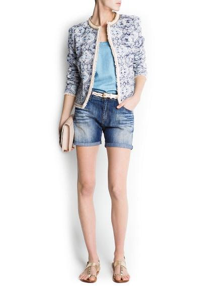 szorty Mango jeansowe - wiosna 2013