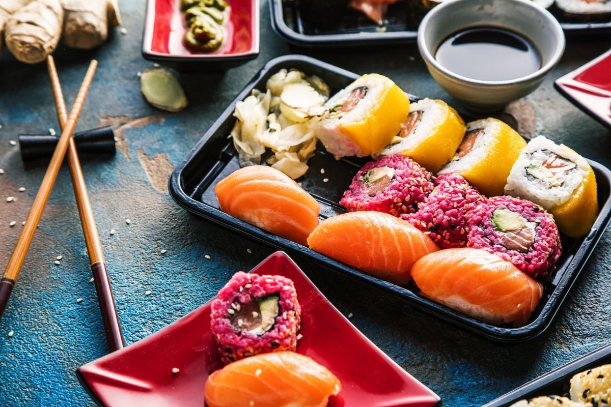 sushi kcal