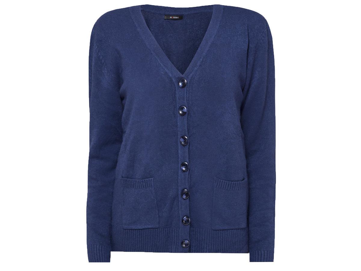 Sweter rozpinany z dekoltem w serek Monnari