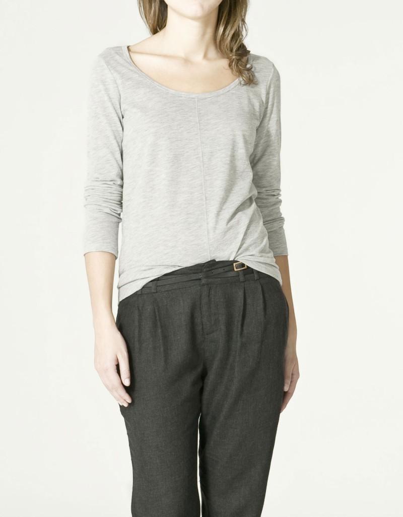 szara bluzka ZARA - moda 2011