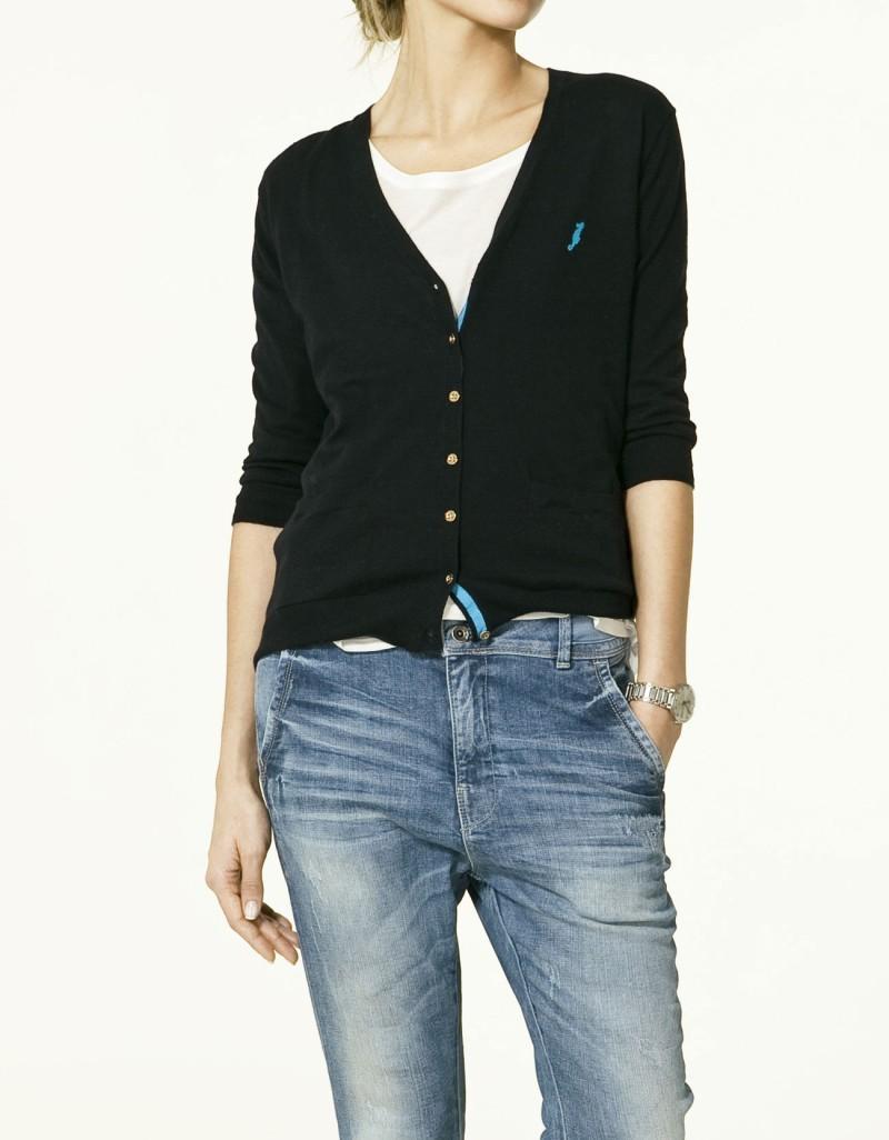 czarny sweter ZARA rozpinany - lato 2011