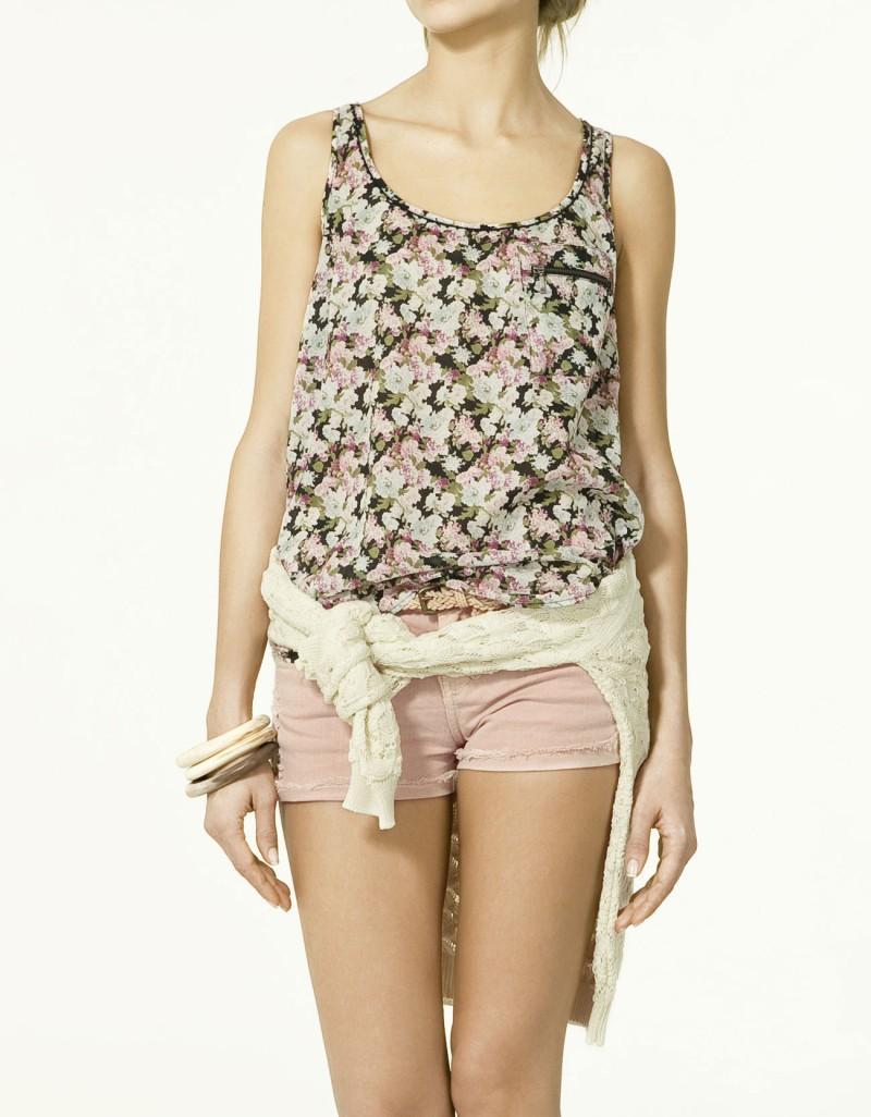 bluzka ZARA w kwiaty - wiosna/lato 2011