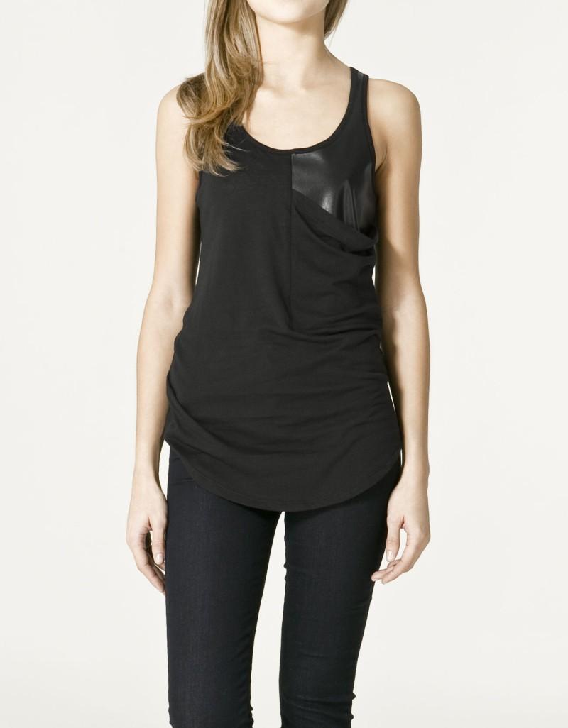 czarna bluzka ZARA - wiosna/lato 2011