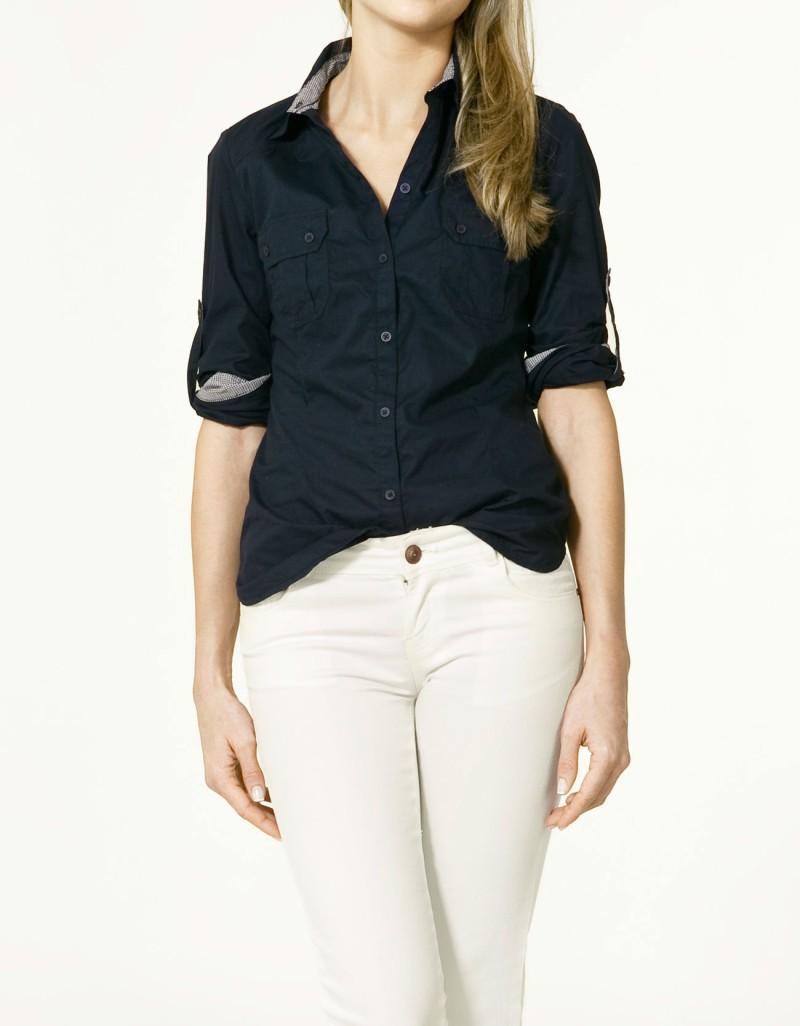 czarna koszula ZARA - trendy wiosna-lato