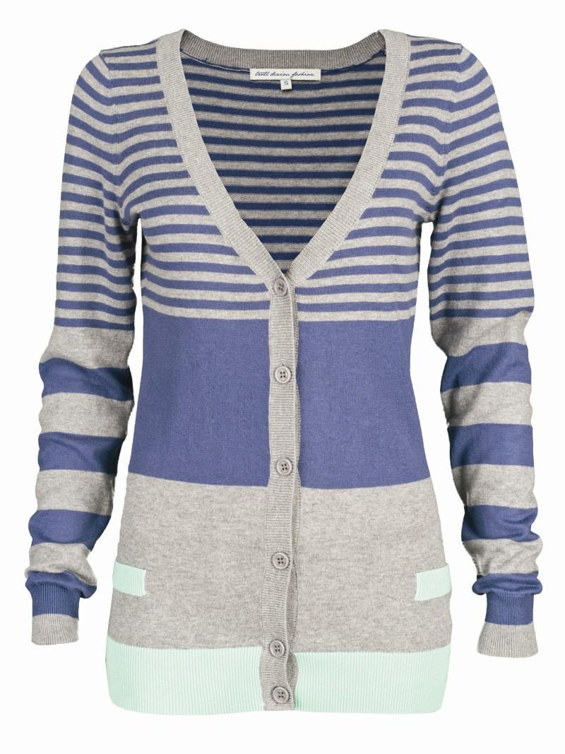 niebieski sweter Troll w paski - wiosenna kolekcja