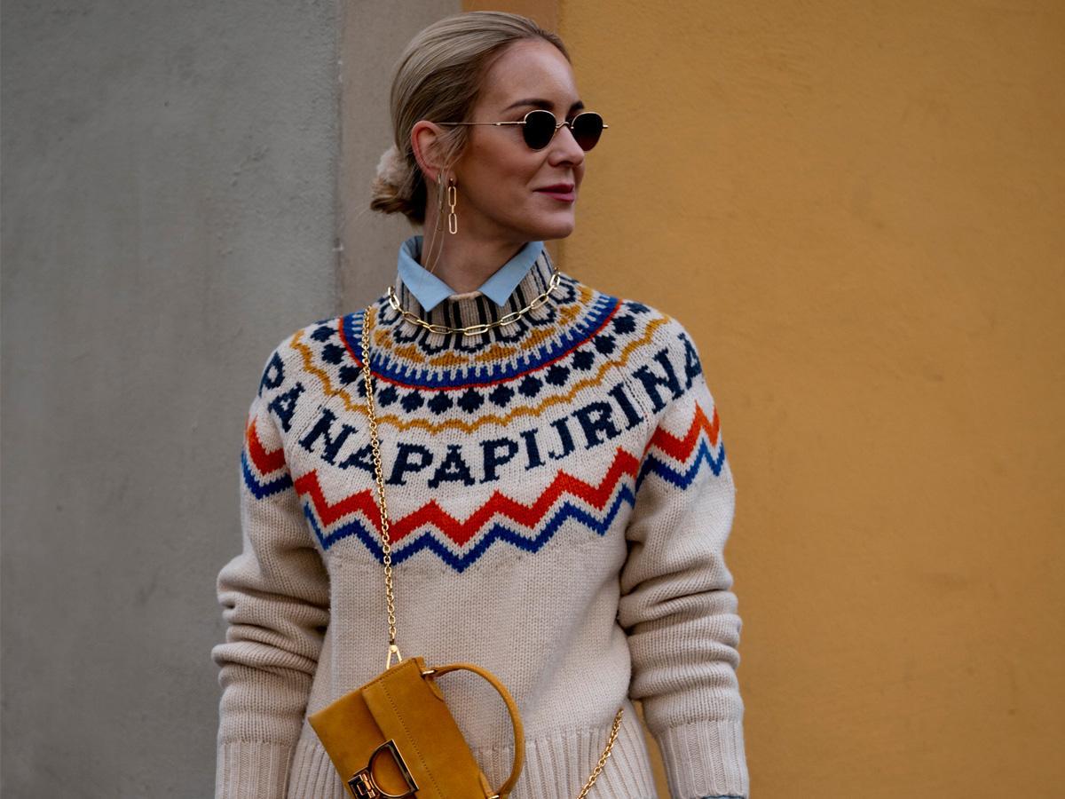 swetry we wzory jesień 2020