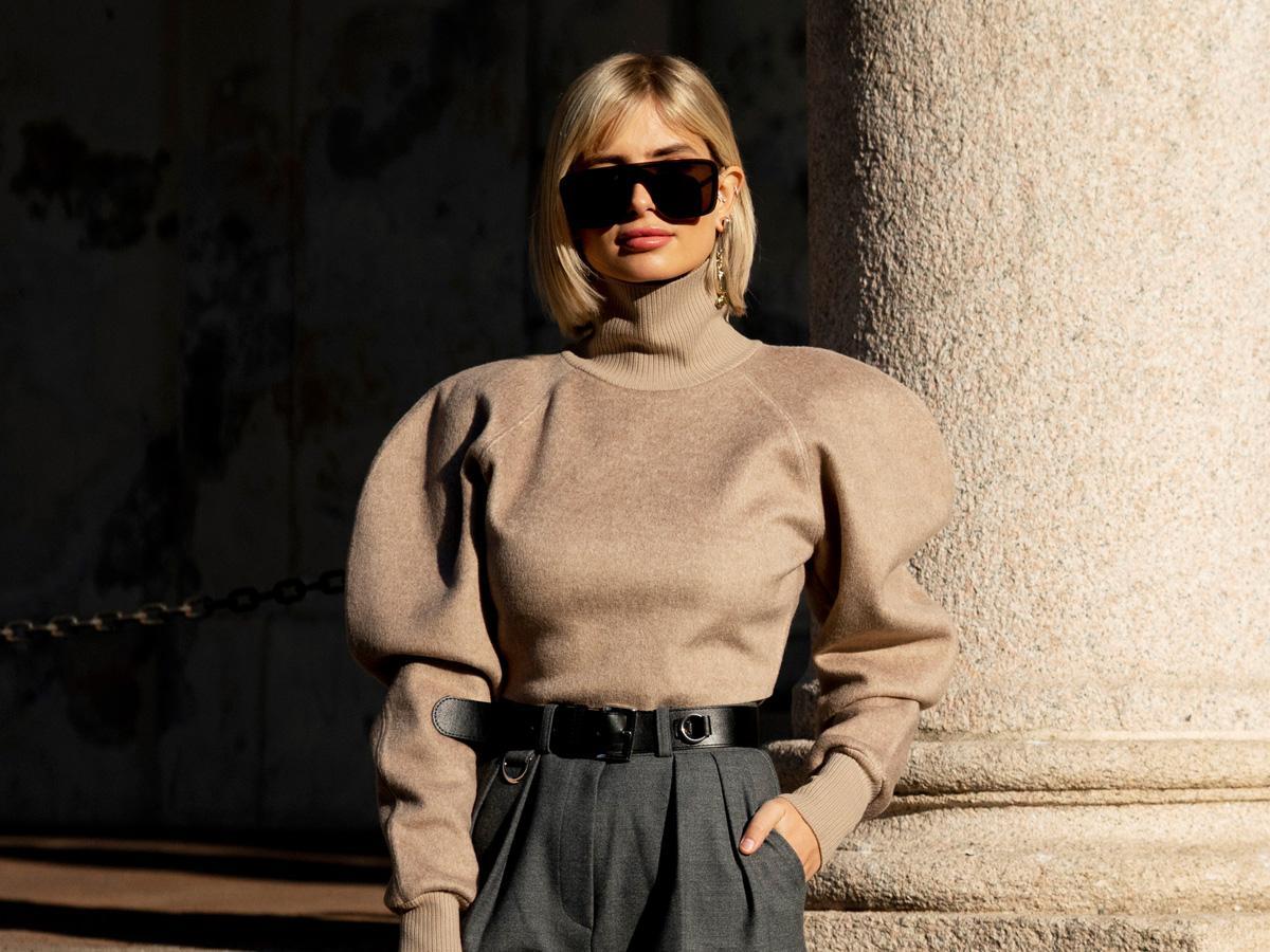 swetry z bufiastymi rękawami jesień 2020