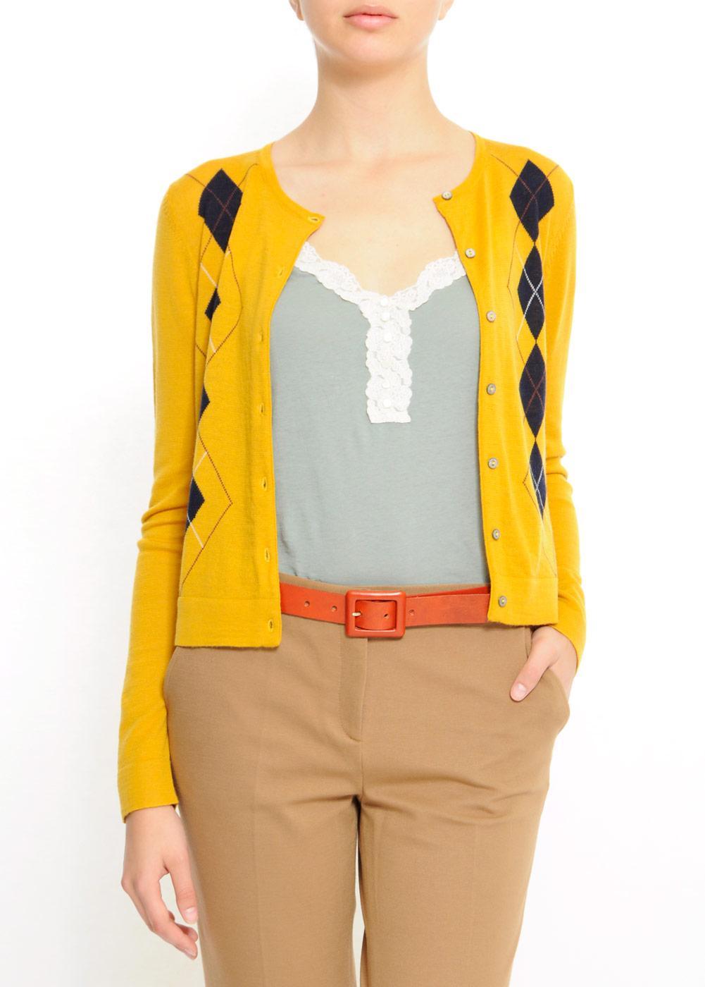 żółty sweter Mango rozpinany - kolekcja wiosenno/letnia