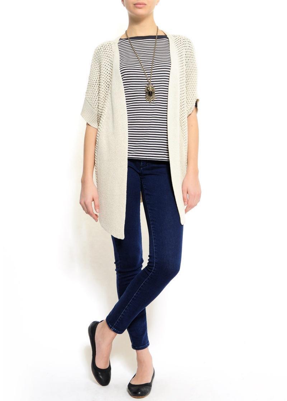 biały sweter Mango długi - kolekcja wiosenno/letnia