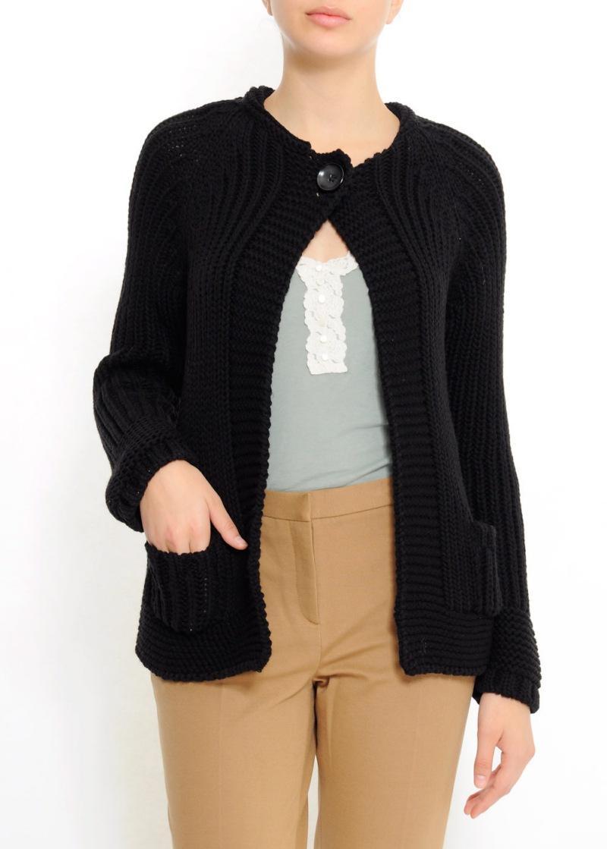 czarny sweter Mango z kieszeniami - kolekcja wiosenno/letnia