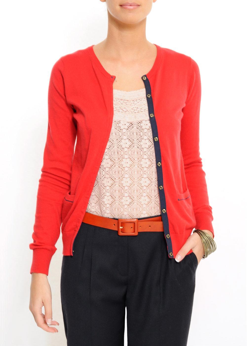 czerwony sweter Mango rozpinany - kolekcja wiosenno/letnia