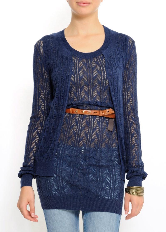 granatowy sweter Mango - moda wiosna/lato