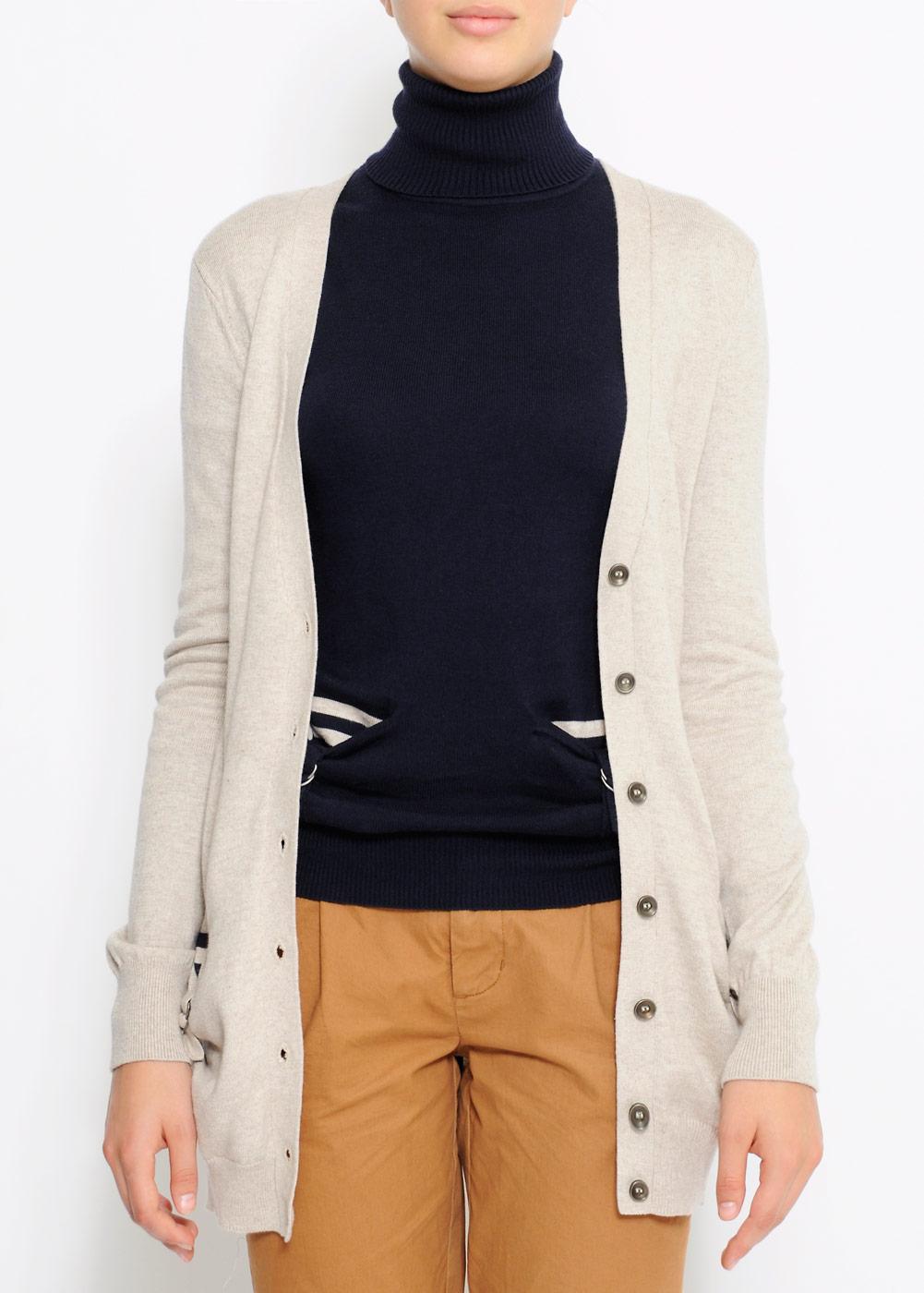 beżowy sweter Mango długi - kolekcja wiosenno/letnia