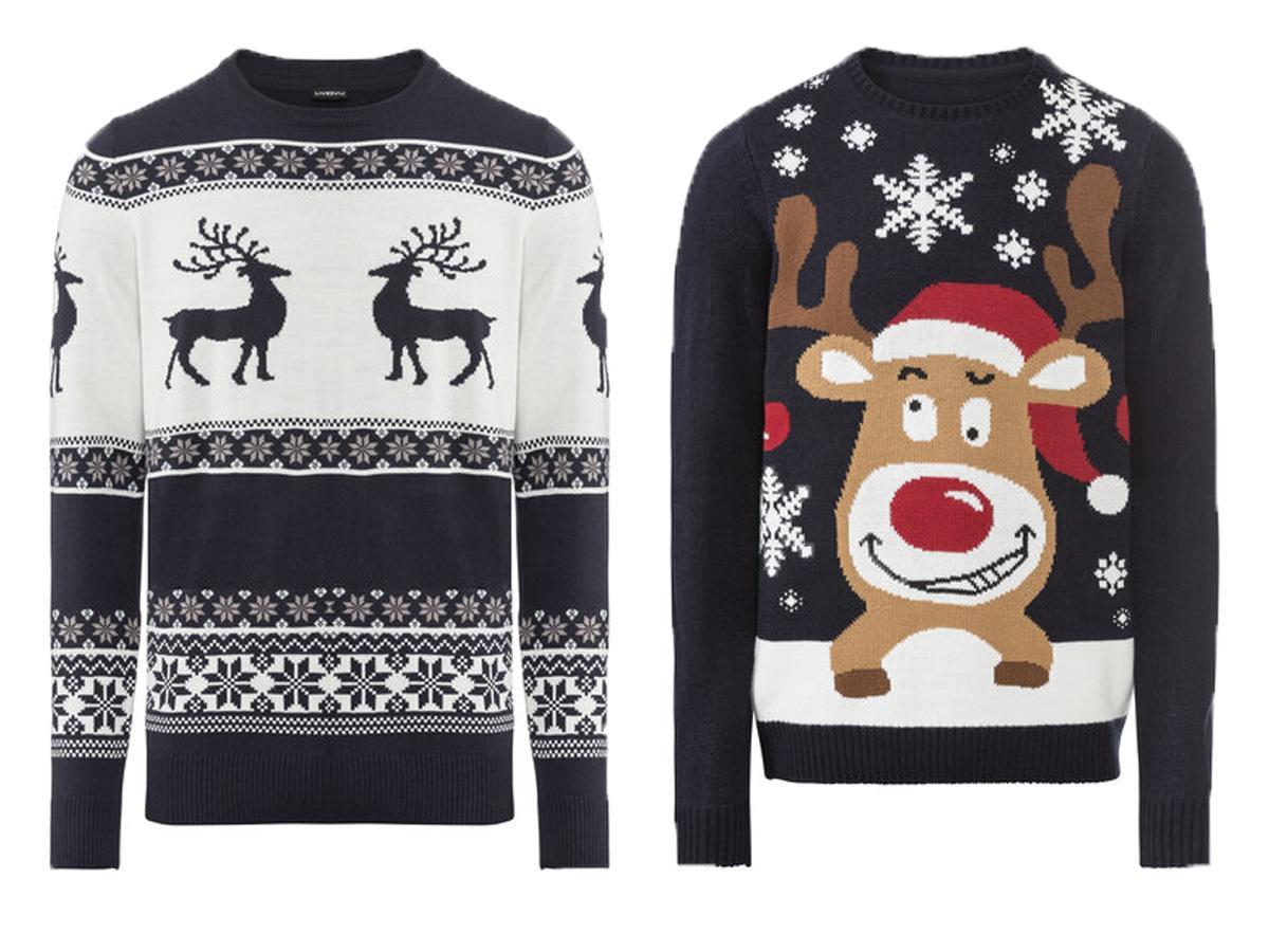 Swetry świąteczne męskie Lidl