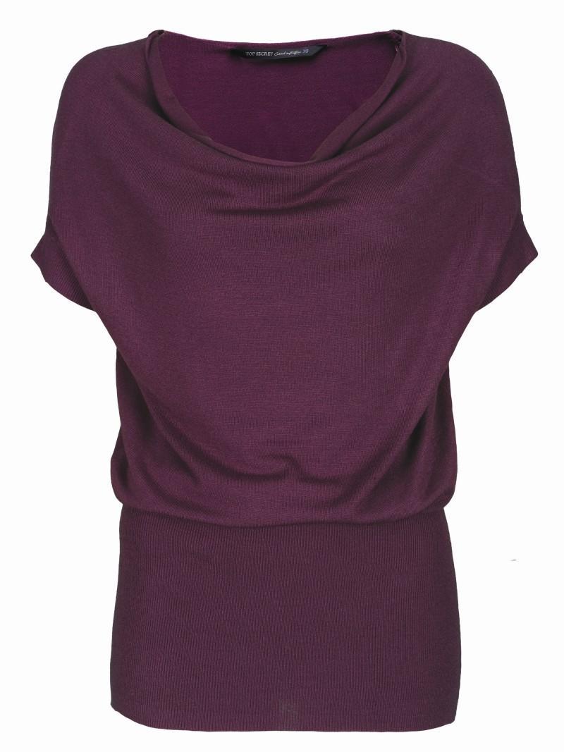 fioletowa bluzka Top Secret - moda 2011
