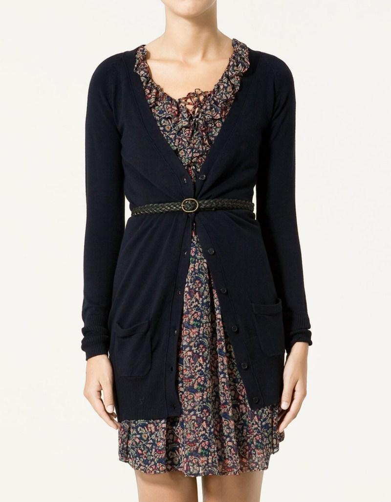 czarny kardigan ZARA - moda 2011