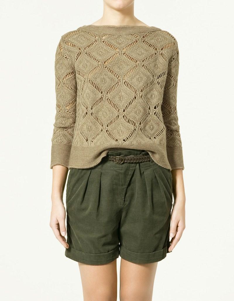beżowy sweter ZARA - wiosna/lato 2011