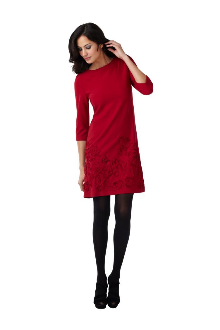 czerwona sukienka Adrianna Papell - jesień/zima 2011/2012