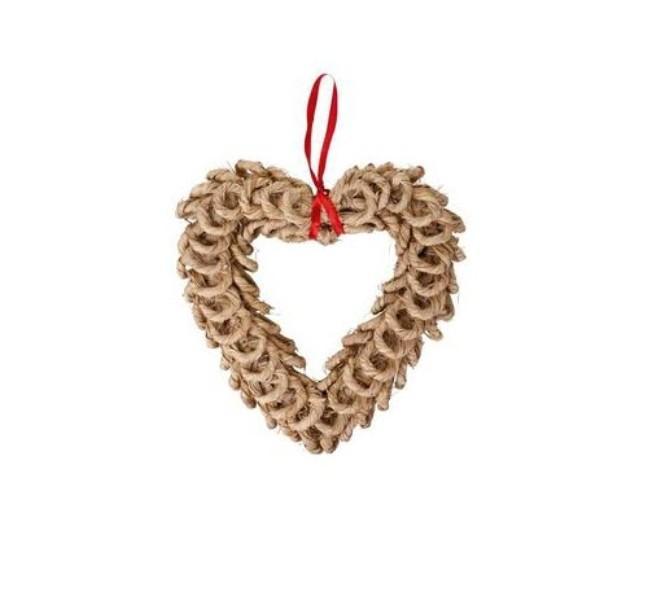 Słomiany stoik w kształcie serca. Duka, 19,90 zł