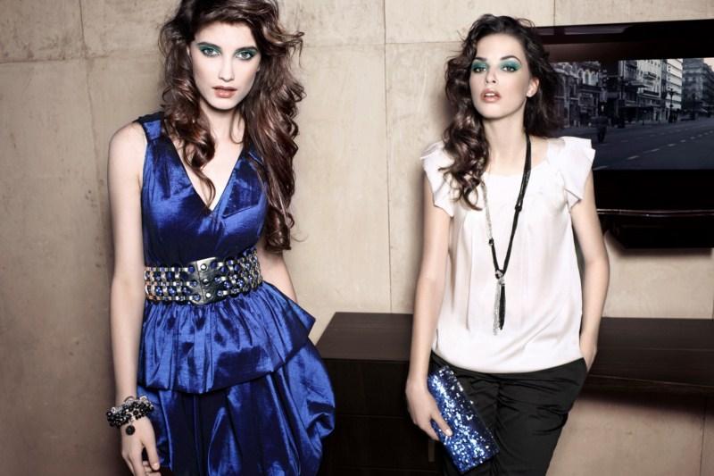 niebieska sukienka Pretty Girl - moda zimowa