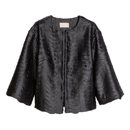 Czarny żakiet błyszczący, H&M