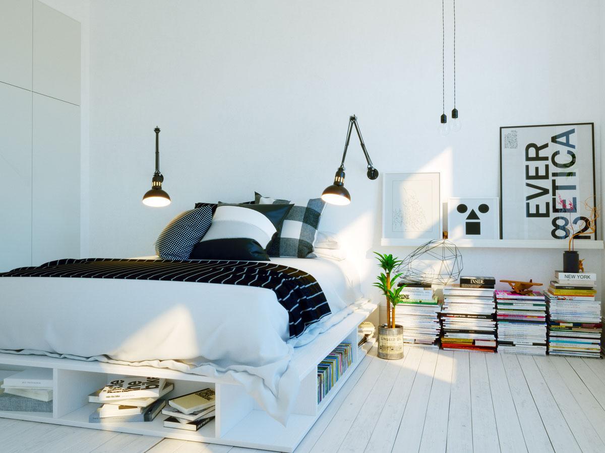 Sypialnia - minimalistyczny styl