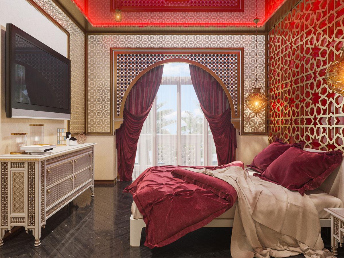 Sypialnia - styl orientalny