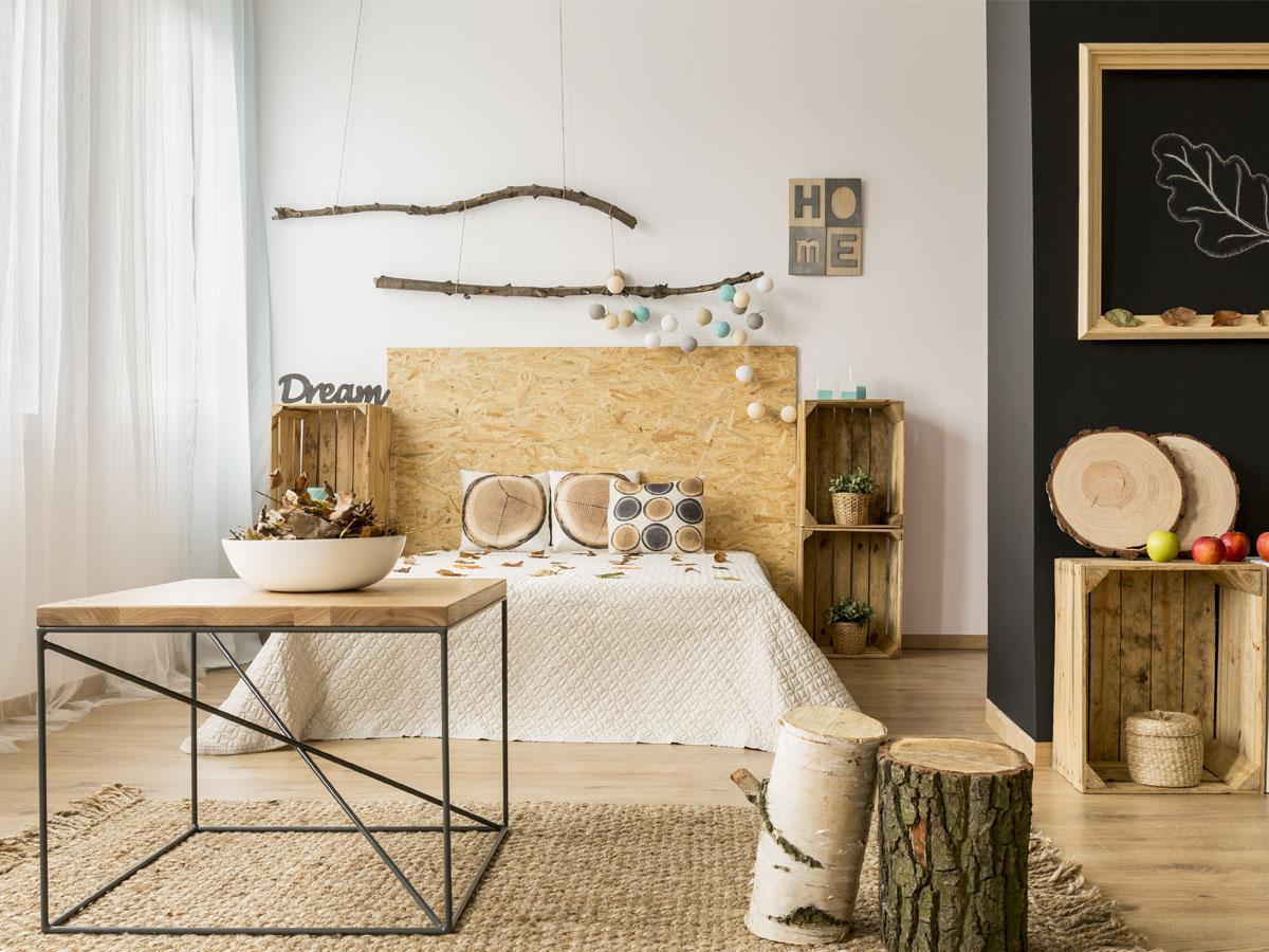 Sypialnia - styl rustykalny