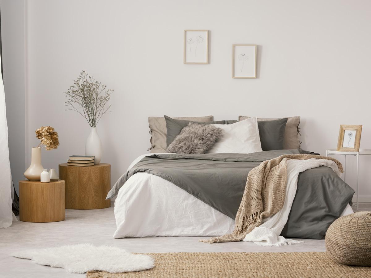 sypialnia w beżu inspiracje