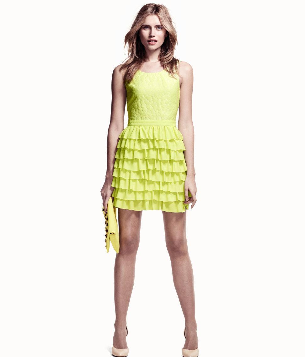 099dd5afd9 Szałowa limonka - ubrania i dodatki w kolorze limonkowym. sukienka H M -  neonowa limonka