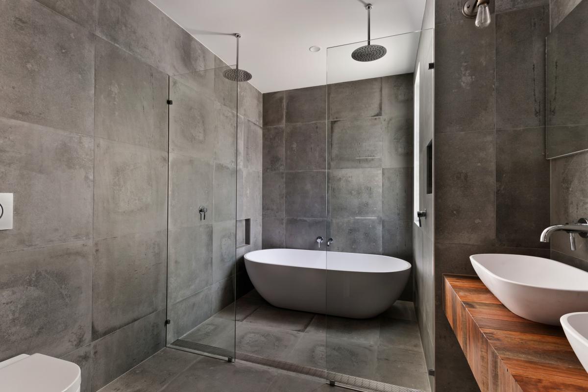 szara łazienka nowoczesna