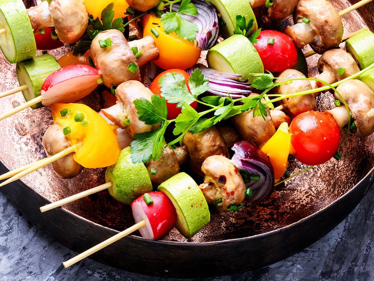 szaszłyki warzywne na grilla