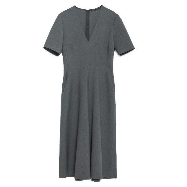 5b01ea59cd Szara sukienka Zara