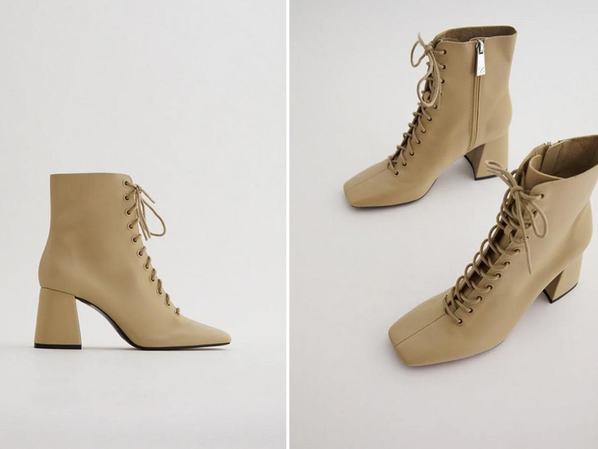 sznurowane botki Zara