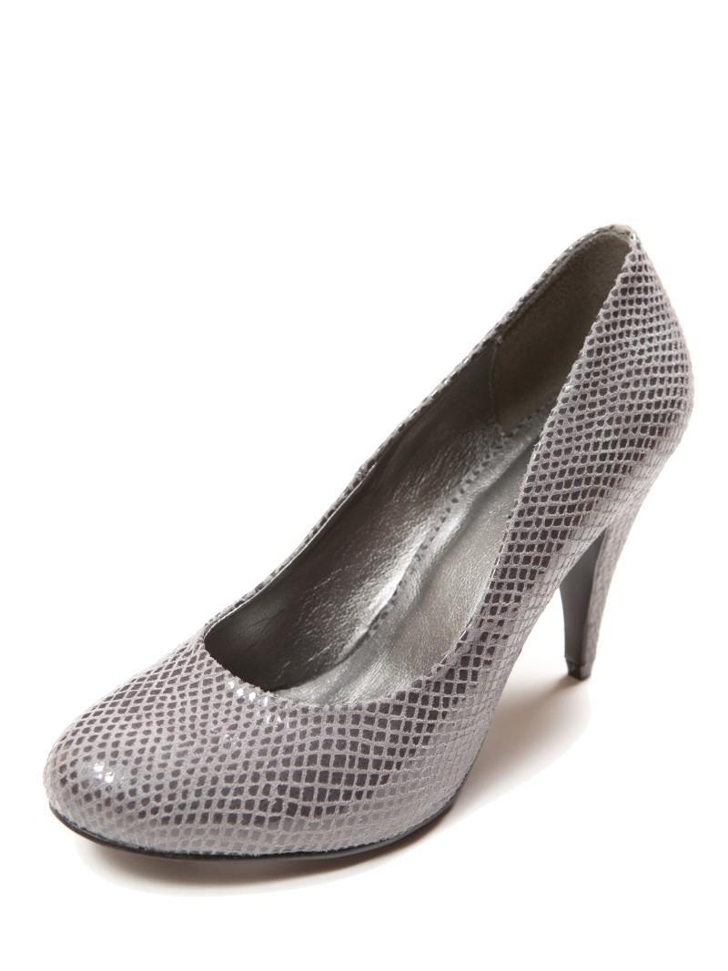 srebrne szpilki Top Secret - wieczorowe obuwie