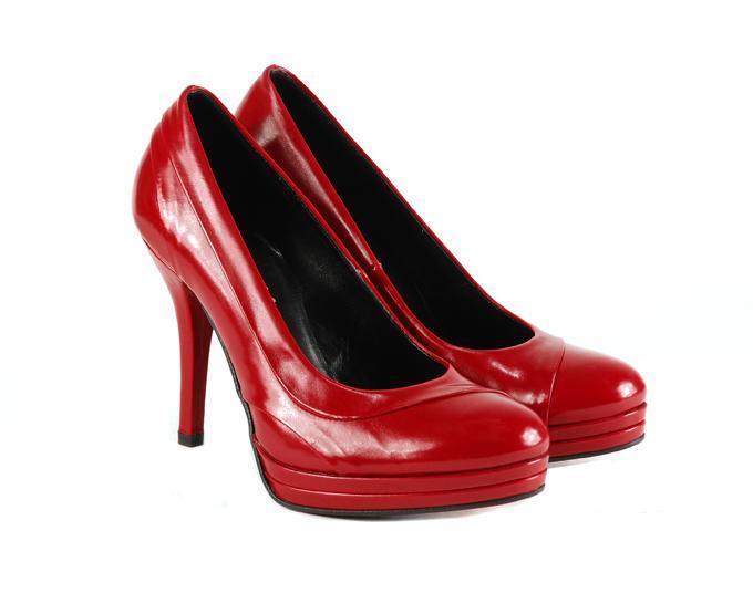 czerwone szpilki Venezia lakierowane - wieczorowe obuwie