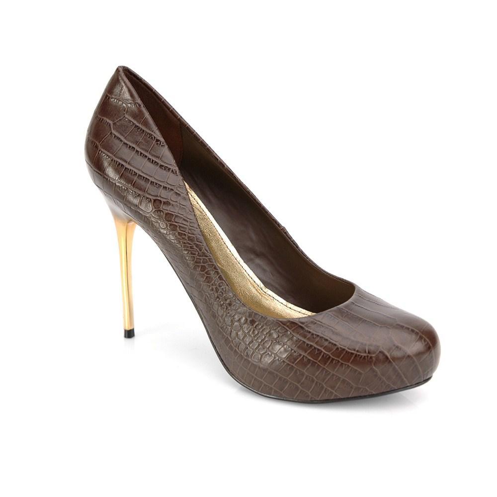 brązowe szpilki Kazar - wieczorowe obuwie