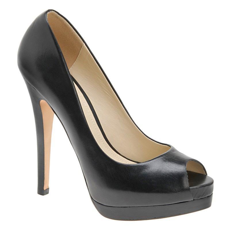 czarne szpilki Aldo ze skóry - wieczorowe obuwie