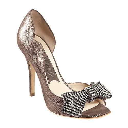 srebrne szpilki Nine West - wieczorowe obuwie