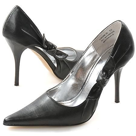 czarne szpilki Anne Michelle ze skóry - wieczorowe obuwie