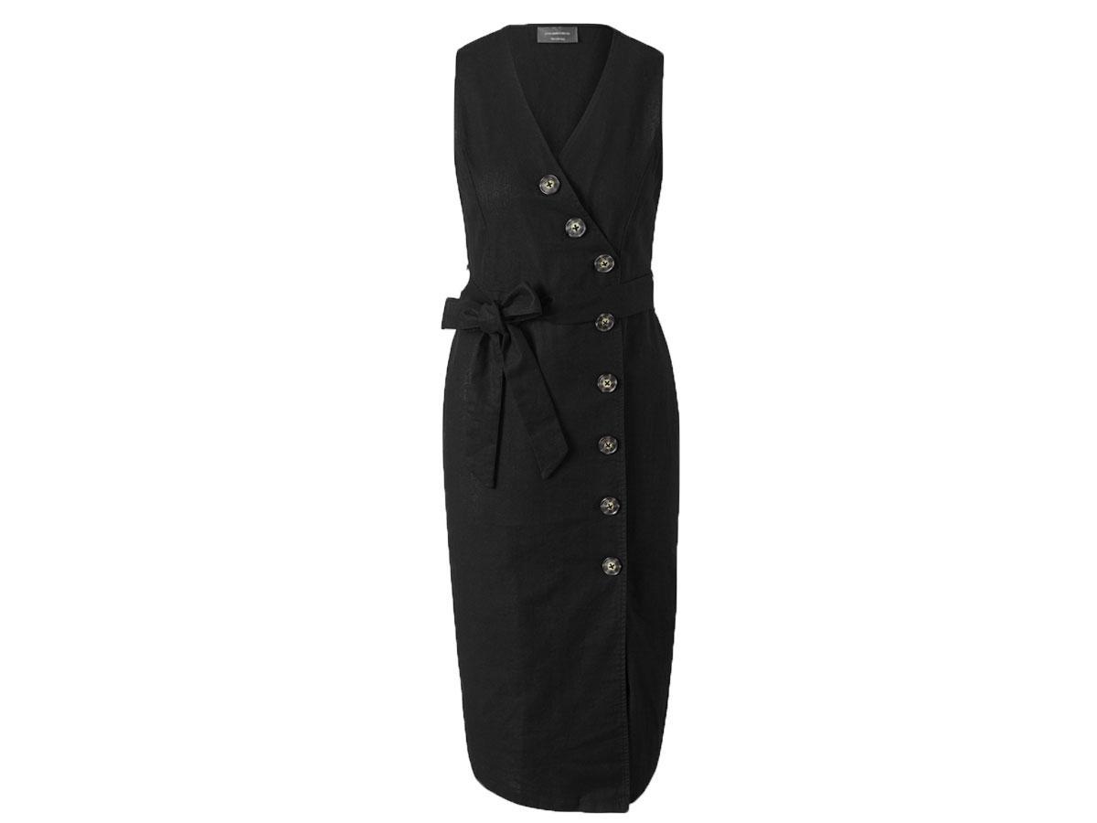 Czarna sukienka lniana, C&A, cena ok. 59,90 zł
